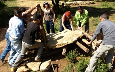 construcción poblado prehistorico